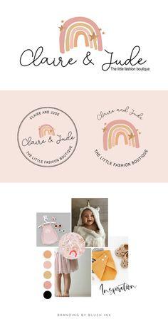 Rainbow Logo Design, Boho Baby Boutique Logo and Watermark, Photography Branding Kit, Cute Kids Logo Branding, Baby Boutique Logo Design Boutique Logo, Baby Boutique, Kids Logo, Photography Logo Design, Watermark Photography, Rainbow Logo, Branding Kit, Boho Baby, Custom Logo Design