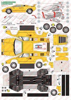 Afbeeldingsresultaat voor papercraft car lamborghini