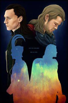 Thor+Loki fanart