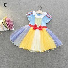 96daac3a11586 W1 子供用ドレス 白雪姫ドレス アリス仮装 人魚姫ワンピース キッズ仮装 コスチュームベビードレス
