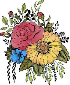 Amazing Pen and Ink Cross Hatching Masters Edition Ideas. Incredible Pen and Ink Cross Hatching Masters Edition Ideas. Sunflower Illustration, Sunflower Drawing, Sunflower Tattoos, Sunflowers And Roses, Love Drawings, Simple Drawings, Ink Drawings, Plant Drawing, Mandala Pattern