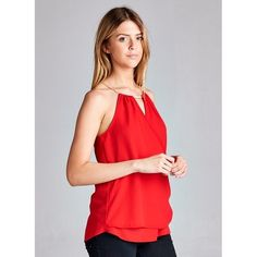 Racer back top w/ asymmetrical double hem front. Material is wool dobby. No trades. Tops Tank Tops