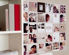 parede com fotos 5x5