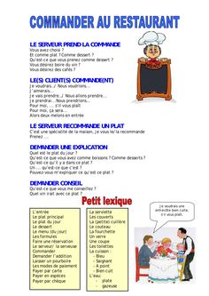 Commander au restaurant by lebaobabbleu via slideshare