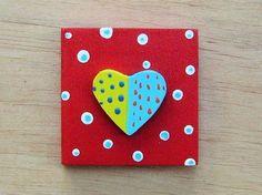 Magnet - Heart from EcoWoodToys by DaWanda.com #handmade #wooden #magnet #heart