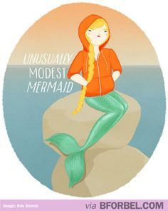 Why Are Mermaids Always So Naked Anyway? What If They Got Cold? What If They Wore Hoodies?