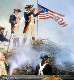 Continental artillery crew besieging Yorktown.  Many French veterans who served in North America during the American Revolution brought back revolutionary thought to France.