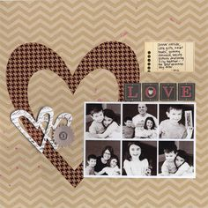 LOVE...simple layout for multiple small photos.