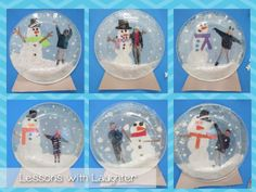 Snow Globes! Have the kids make snow globes during January and write about it. Can use whatever type of writing we are working on at the time!! :)