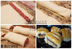 Great South African Recipes SAUSAGE ROLLS (WenResepte 1, pg. 223, WR 2, pg.59)...