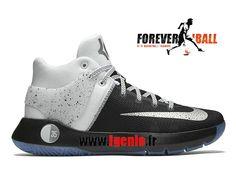 154cc14e0ded8 Nike KD Trey 5 IV Premium - Chaussures de BasketBall Pas Cher Homme Blanc /Noir