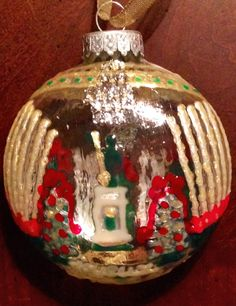 Belle Lafaye: Creations by Aria Roosevelt, New Orleans, Christmas Bulbs, Hand Painted, Etsy Shop, Shapes, Seasons, Inspired, Holiday Decor