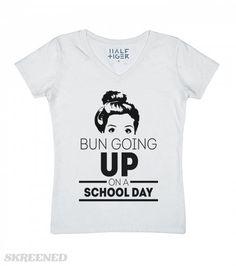 Bun Going Up-Unisex Snow T-Shirt from Skreened