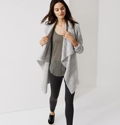 Got this soft, chunky, warm sweater too. Love!! Lou & Grey Cloudy Cardigan | Loft