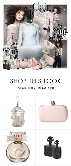 """""""№ 448"""" by olga3001 ❤ liked on Polyvore featuring By Terry, Balmain, Chanel, Alexander McQueen, Olivine and Kurt Geiger"""