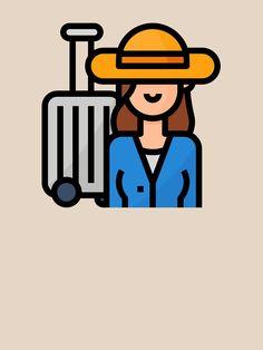 """Cute Traveler Tourist Girl Hobby Avatar"" T-shirt by passionemporium Avatar Cartoon, Tshirt Colors, Wardrobe Staples, Cute Boys, Female Models, Classic T Shirts, First Love, Travel, Girl Models"