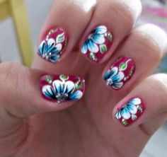 Hawaiian Nailsybe For My Trip To Maui Nails Pinterest