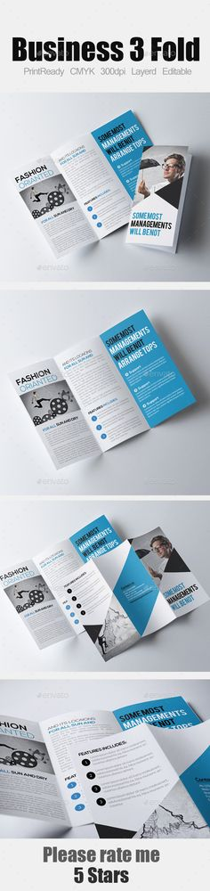 Tri Fold Business Brochure Bundle Template, Brochures and Tri fold