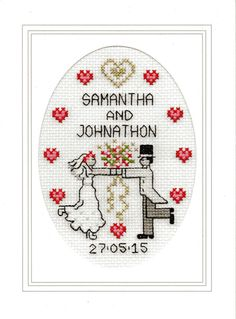 Wedding cross stitch card kit - First Dance                                                                                                                                                      More