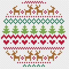 Christmas Fair Isle Cross Stitch Trio – Modern Pattern – PDF Only – knitting charts Cross Stitch Borders, Modern Cross Stitch Patterns, Cross Stitching, Cross Stitch Embroidery, Fair Isle Chart, Fair Isle Pattern, Christmas Hearts, Christmas Cross, Punto Fair Isle