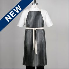 Limited Edition Euro Bib Apron in a unique Indigo with Natural Double Stripe Denim, 100% Cotton. 100% Cotton Natural Webbing, Cross Back Straps for comfort and a Double Lap Pocket with Double Needle Top Stitching. Cross Back Straps loop through Nickel Grommets at the Waist Back and can be tied in the back or front.