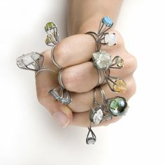 Joanna Gollberg Pronged stackable rings