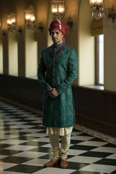 PuneetandNidhi presents wide collection of wedding sherwani for men in Noida, Delhi NCR & California. Designer and stylish Royal Sherwani collection. Sherwani For Men Wedding, Wedding Dresses Men Indian, Groom Wedding Dress, Wedding Men, Elegant Wedding, Bride Groom, Indian Groom Wear, Mens Kurta Designs, Groom Looks