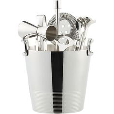 Gatsby Bar Tools with Ice Bucket in Wine and Bar Utensils   Crate and Barrel