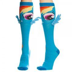 Amazon.com: My Little Pony Rainbow Dash Knee Socks with Wings: Clothing