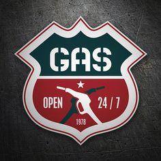 Pegatinas: Open Gas #coche #pegatina #sticker