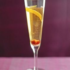 The champagne shines through in this classic—with a hint of added flavor from spirits, bitters, and citrus peels. Many variations of this recipe are served at hotels and bars worldwide.