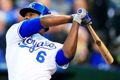 Going solo:    Kansas City Royals' Lorenzo Cain hits a solo home run off Minnesota Twins starting pitcher Tommy Milone during the fourth inning of a baseball game at Kauffman Stadium in Kansas City, Mo., April 9. Milone gave up back-to-back home runs in the inning.   -       © Orlin Wagner/AP Photo