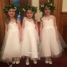 """""""Ivory Lace Tulle TUTU Ball Gown Princess Flower Girl Dress"""" ---- Princessly.com Customer Photos"""