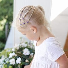 """Did this style on Brighton for @brownhairedbliss #bhbmixitup it turned out so fun! Every one always asks where I get my """"rudder bans"""" and """"body pins"""" @sallybeauty is cheapest and you can buy in bulk. #toddlerhairstyles #toddlerhair #blondehair #littlegirlhair #littlegirlstyles #blogger"""