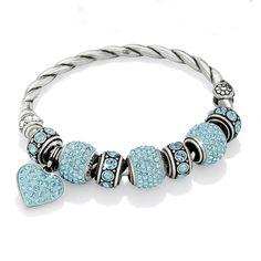 Aqua Cupid's Kiss beads & charm / Infinity spacer