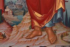 Стопы апостола Павла. Фрагмент иконы апостолов Петра и Павла