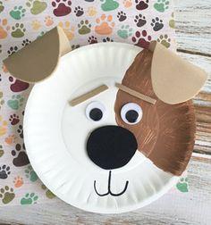 DIY Secret life of pets Max - paper plate craft for kids // Aranyos papír tányér kutyus - kreatív ötlet gyerekeknek // Mindy - craft tutorial collection // #crafts #DIY #craftTutorial #tutorial #KidsCrafts #CraftsForKids #KreatívÖtletekGyerekeknek