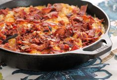 Cheesy chicken, bacon and rice skillet