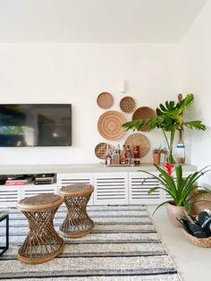 Baskets On Wall, Wall Basket, Beach House, Living Room Decor, Decoration, 1, Women's Fashion, Plants, Home Decor
