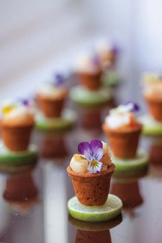 Mini #Shrimp Pots from @Peter Thomas Callahan See WAY more amazing mini-bites on SMP Living- http://www.stylemepretty.com/living/2013/10/23/peter-callahans-mini-masterpieces/