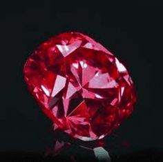 The Hancock Red Diamond.  Slightly smaller than 1 ct, it is measured as the second-most color-saturated red diamond.