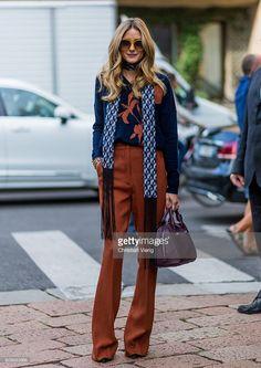 Fotografia de notícias : Olivia Palermo outside Max Mara during Milan...