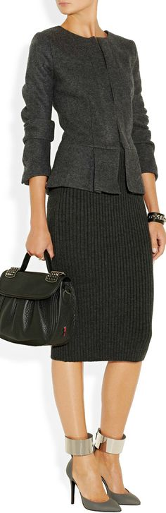 I'm a big fan of the midi-skirt length  and I love this one! Of course I am not wearing that ankle look for the office though! #PersonalLeadership #Women