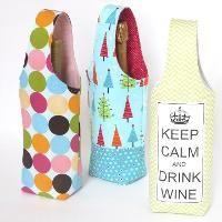 No Bias Tape Simple Wine Tote