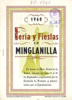 Fiestas en Minglanilla (Cuenca) en honor del Cristo de la Salud del 13 al 18 de septiembre de 1960 Se celebra un curioso concurso de bebedores de cerveza #Fiestaspopulares #Minglanilla #Cuenca
