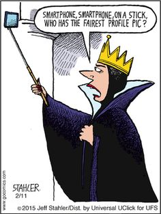 Smartphone, smartphone on a stick, who has the fairest profile pic? by Stahler