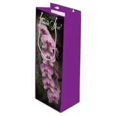 Moth Orchid Flowers Red and Pink Wine Gift Bag - craft supplies diy custom design supply special