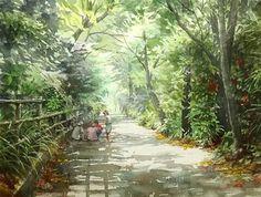 Takashi Akasaka - watercolor