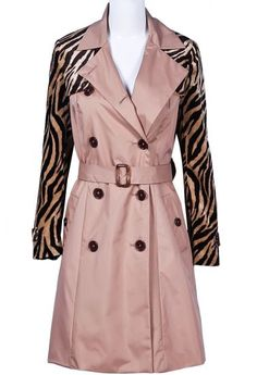 Zebra Trench Coat