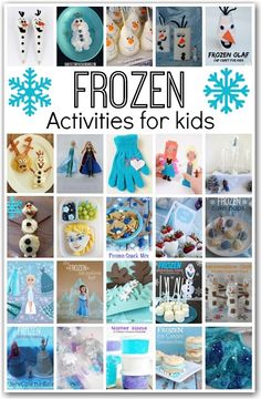 This collection of disney frozen ideas is awesome. everything you will ever need for your frozen fan: crafts, recipes, party ideas, pla. Disney Frozen Party, Disney Frozen Crafts, Frozen Bday Party, Frozen Theme, Disney Diy, Frozen Activities, Activities For Kids, Frozen Party Games, Birthday Crafts